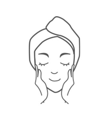 Sau khi làm sạch da mặt vào buổi sáng và buổi tối, bắt đầu thoa kem dưỡng da.