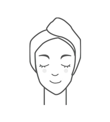Làm ấm lòng bàn tay và ấn nhẹ dọc theo da mặt để giúp tinh chất thẩm thấu và hấp thụ vào đáy da.