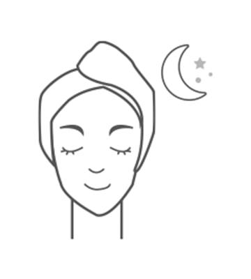 Nhẹ nhàng thoa đều kem lên da theo chiều từ trong ra ngoài. Để mặt nạ thấm thấu vào da và rửa mặt lại vào buổi sáng hôm sau.